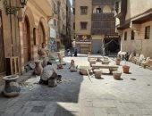 تضم مواقع أثرية.. تطوير حارة الدرب الأصفر لإعادة تأهيلها للزوار .. صور