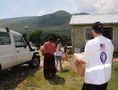 الهلال الأحمر الكويتى يوزع مساعدات إغاثية على اللاجئين فى البوسنة