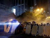 الشرطة فى هونج كونج تطلق الغاز المسيل للدموع مع تجدد الاحتجاجات المناهضة للحكومة
