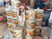 ضبط 9500 كيلو دهانات مقلدة داخل مصنع ببسيون