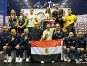 مصر تهيمن على منصة تتويج بطولة العالم لناشئى الاسكواش بـ6 ميداليات.. صور