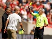 جوارديولا أول مدرب يتلقى بطاقة صفراء فى تاريخ الدرع الخيرية