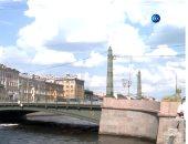 شاهد.. جسر مصري يتوسط مدينة سان بطرسبورج الروسية