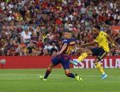 أوباميانج يلدغ برشلونة بهدف فى الشوط الأول بكأس خوان جامبر.. فيديو