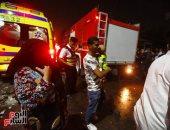 المواطنون يتوافدون للتبرع بالدم لمصابى حادث المعهد القومي للأورام بالمنيل