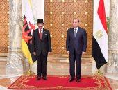 الرئيس السيسى يستقبل اليوم سلطان بروناى بقصر الاتحادية