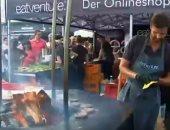 شاهد.. عشاق اللحوم المشوية يلتقون فى البطولة الوطنية للشواء بألمانيا