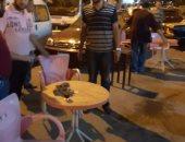 غرامات مالية فورية لاشغالات المقاهى بأحياء الإسكندرية خلال الحملات المسائية