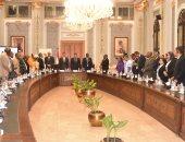 """صور.. رئيس النواب لـ""""وفد البرلمان الأفريقى"""":  30 يونيو أعادت مصر بقوة لأفريقيا"""