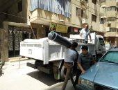 صور.. غلق محال مخالفة وقطع المرافق عن أبنية مخالفة فى حملة بالسلام أول