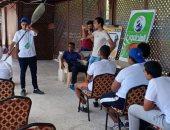 """صور.. """"الشباب والرياضة"""" بالإسكندرية تنظم المهرجان الأول للألعاب المائية بمشاركة 300 شاب"""