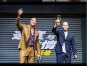 دوين جونسون وجايسون ستاثام فى الصين بسبب HOBBS & SHAW