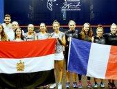 ناشئات مصر للاسكواش يتغلبن على فرنسا 3 / 0 فى بطولة العالم بماليزيا