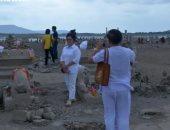 شاهد .. الجفاف يكشف عن معبد بوذى مفقود فى تايلاند