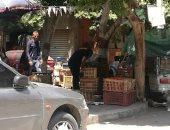 شكوى من اشغالات المحال التجارية بشارع الشهيد حسين إسماعيل بروكسى