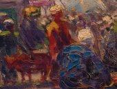 شاهد لوحة محمود سعيد عن الأضحية بمناسبة العيد