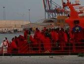 شاهد.. لحظة مصادرة 4 قوارب تقل 161 مهاجرًا فى إسبانيا