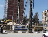 شكوى من بناء أبراج سكنية بحرم طريق مدخل كوبرى الجامعة بالمنصورة