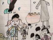 """""""أشخبط شخابيط"""".. طفل يشارك صحافة المواطن رسوماته"""