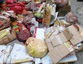 مصادرة 350 كيلو مصنعات لحوم منتهية الصلاحية داخل ثلاجة بالمحلة