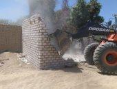 إزالة 64 حالة تعدٍ على أملاك الدولة بـ3 قرى بأسوان