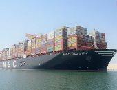صور.. عبور أكبر سفينة حاويات بالعالم قناة السويس الجديدة بطاقة 23 ألف حاوية