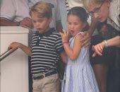 موقف طريف للأميرة شارلوت ابنة ويليام وكيت فى سباق كأس الملك