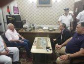 صور.. محافظ بورسعيد يزور قسم العرب ويهنئ رجال الشرطة بعيد الأضحى المبارك