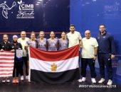 منتخب مصر لناشئات الاسكواش يتوج ببطولة العالم بعد الفوز على ماليزيا