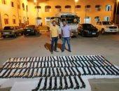 صور.. تفاصيل ضبط 100 بندقية خرطوش تركى محملة داخل سيارة نصف نقل بأسيوط