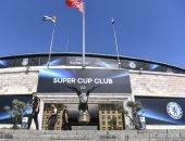 """ملعب """"بشكتاش"""" يتزين لاستضافة السوبر الأوروبى بين ليفربول وتشيلسي.. صور"""