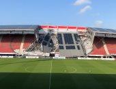 انهيار سقف استاد ألكمار الهولندى دون إصابات