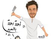 """""""بيكو"""" يبدع فى رسم محمد صلاح ومشاهير الرياضة والفن مع """"خروف العيد"""" (صور)"""