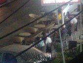 المعاناة مستمرة.. شكوى من انتشار المقاهى فى شارع جمال عبد الناصر بالإسكندرية