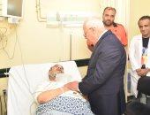 """محافظ بورسعيد يزور مستشفى التضامن لتهنئة المرضى والعاملين بـ""""عيد الأضحى"""""""