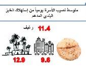 الإحصاء: 11.4 رغيف متوسط نصيب الأسرة يوميا من استهلاك الخبز البلدى المدعم