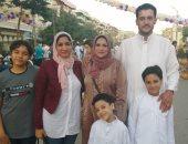 قارئة تشارك بصور مع أسرتها عقب صلاة العيد.. مناسك نحرص عليها وتمثل لنا السعادة