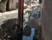 أطفأت فرحة العيد..  مياه الصرف الصحى تغرق شوارع قرية قراقص فى البحيرة