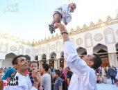 أجواء احتفالية فى صلاة عيد الأضحى بالأزهر والحسين