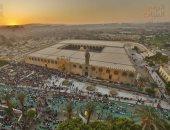 """""""العيد فرحة"""".. الأطفال يزينون صلاة عيد الأضحى بمسجد عمرو بن العاص"""
