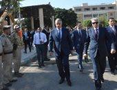 محافظ المنيا يزور معسكر قوات الأمن للتهنئة بعيد الأضحى المبارك