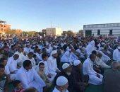 قارئ يشارك بصور لصلاة العيد فى مدينة بلاط بالوادى الجديد
