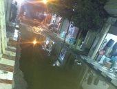 مياه الصرف الصحى تحاصر شوارع قرية بالمنوفية وتمنع الأهالى من قضاء العيد