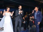 فيديو وصور.. مروان محسن يحتفل بزفافه فى أحد فنادق التجمع