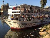 صور.. إقبال على المراكب النيلية واللانشات بالمنصورة فى ثانى أيام عيد الأضحى