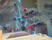 أهالى دار السلام بالقاهرة يشكون انتشار مياه الصرف الصحى بالشوارع