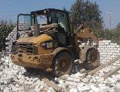 إزالة 9 حالات تعد على الأراضى الزراعية بمدينة سرس الليان خلال إجازة عيد الأضحى