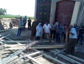 صور.. إزالة 12 بناء مخالفا ورفع 413 طن قمامة بمركز المنصورة خلال عيد الأضحى