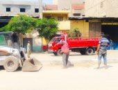 صور.. رفع 1545 طن قمامة فى مدينة المنصورة خلال أيام عيد الأضحى