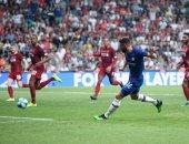 ليفربول ضد تشيلسي.. الريدز يتأخر بهدف جيرو فى الشوط الأول بالسوبر الأوروبى